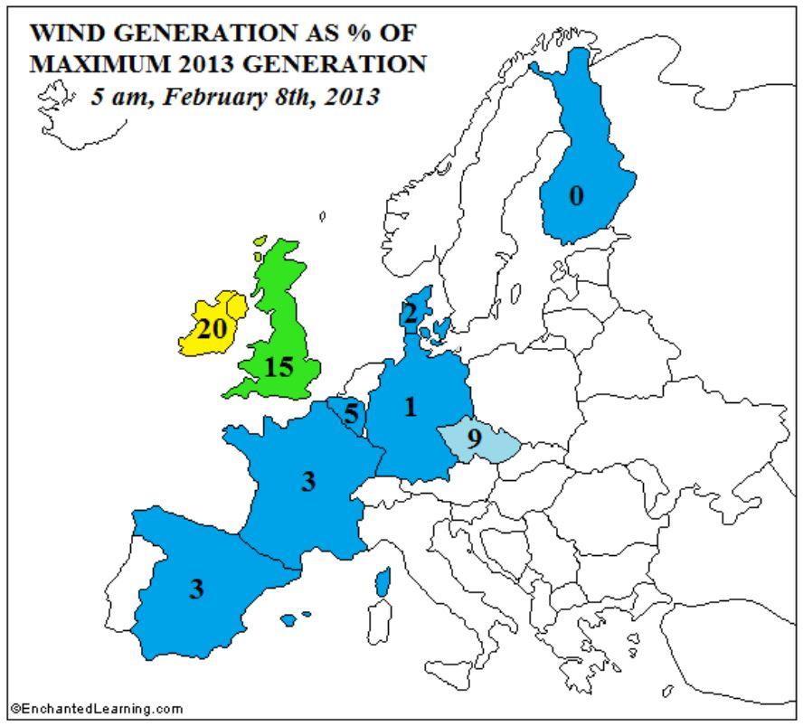 Europakarta for miljoner