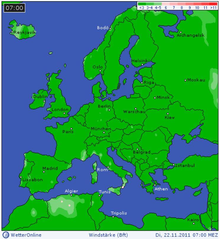 karta över europa 2014 Vindstilla i hela Europa | KLIMATSANS karta över europa 2014